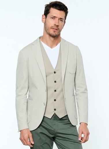 Lufian Slim Fit Blazer Ceket Taş